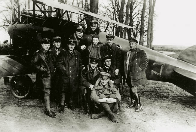 The 25-year-old Richthofen, Germany's most successful living ace with 16 kills,