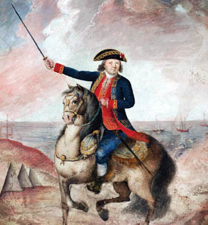 Spanish expeditionary force commander Bernardo de Galvez is shown in a period portrait. The Spanish battled hurricanes, as well as British troops, in their quest to conquer the Gulf Coast.