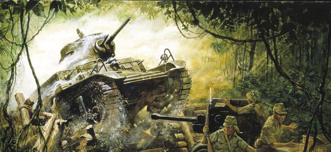 American forces defending the Bataan peninsula waged a determined resistance during the Philippines campaign of 1941-1942.