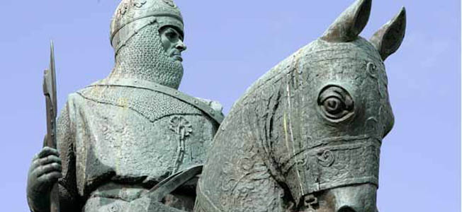 The English Army was a formidable adversary for the Scots, so Robert the Bruce relied on tactics, not brute strength, when fighting English forces.