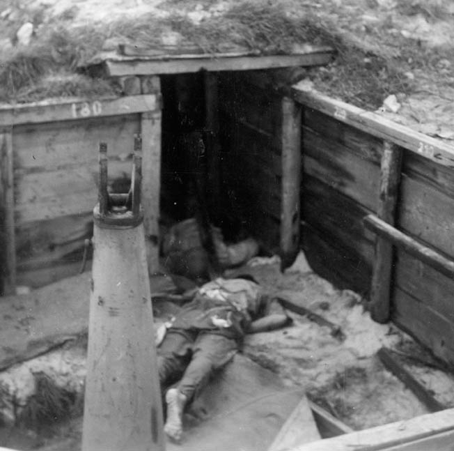 For some Japanese soldiers defending Roi-Namur, surrender was such a dishonor that suicide was preferable. This Japanese soldier killed himself as American Marines closed in on his position atop one of the few hills on the islands.
