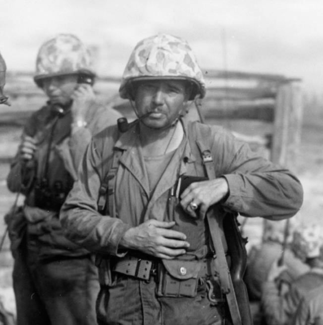 Lt. Col. Dwight Dillon led the 2nd Battalion, 23rd Marines during the battle to wrest the airfield on Roi from Japanese control. The Marines who fought at Roi-Namur in early 1944 received their baptism of fire.