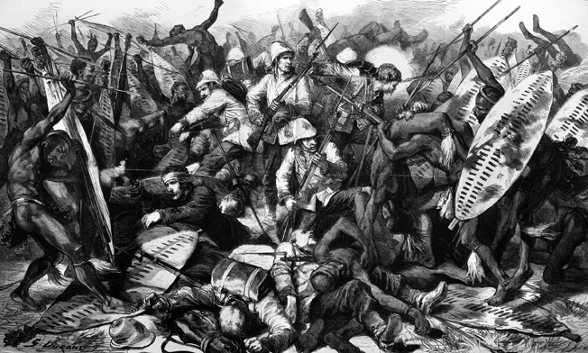 A vastly superior Zulu army overwhelms the 1,700 British troops encamped at Isandlwana on the frontier of Zululand. The poorly led British force made no effort to fortify its position in the mistaken belief that there was no enemy force nearby.