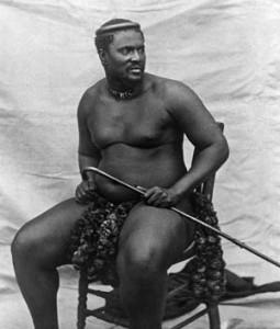 Zulu King Cetshwayo.