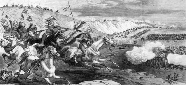 Just before Custer's Little Big Horn, the southern portion of the U.S. Army pincer felt the fury of the Indians