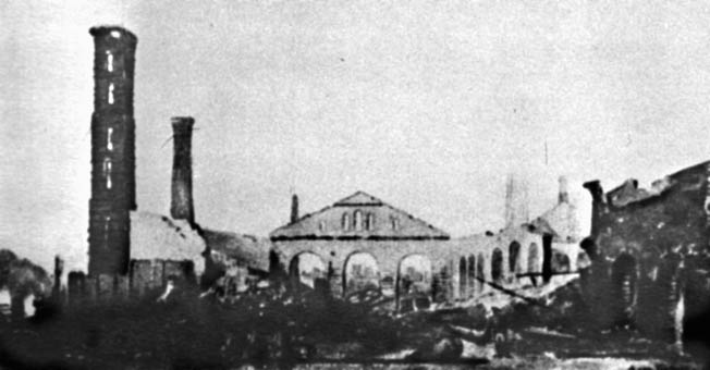 The Confederate States naval Foundry in Selma was left a smoldering wreck after Wilson's raiders had finished their handiwork. Some 50 acres of buildings in the city were destroyed.