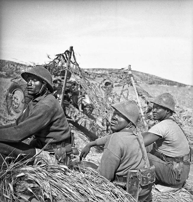 Free French colonial troops from Senegal scan the horizon for enemy activity. Following the fall of France in June 1940, the Free French movement gained invaluable support from the prostrate nation's overseas colonies, and Philippe Leclerc was instrumental in securing much of that support.