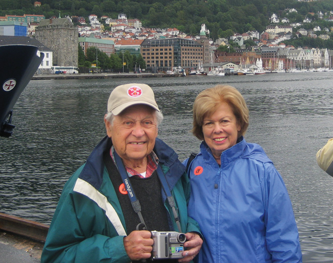 Bernie Sevel and his wife Deane visited Europe together in 2007. This time most of the houses and roofs and the bridges were intact.