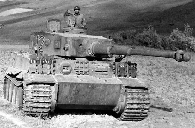 A German tank in WWII.