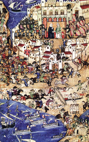 Sultan Qalawun's siege of Tripoli in the spring of 1289 was a dress rehearsal for Acre two years later. The Mamluks captured it in just four weeks because it was weakly fortified. After its capture, the victorious Mamluks slaughtered the noncombatants while most of the Crusaders evacuated by sea.