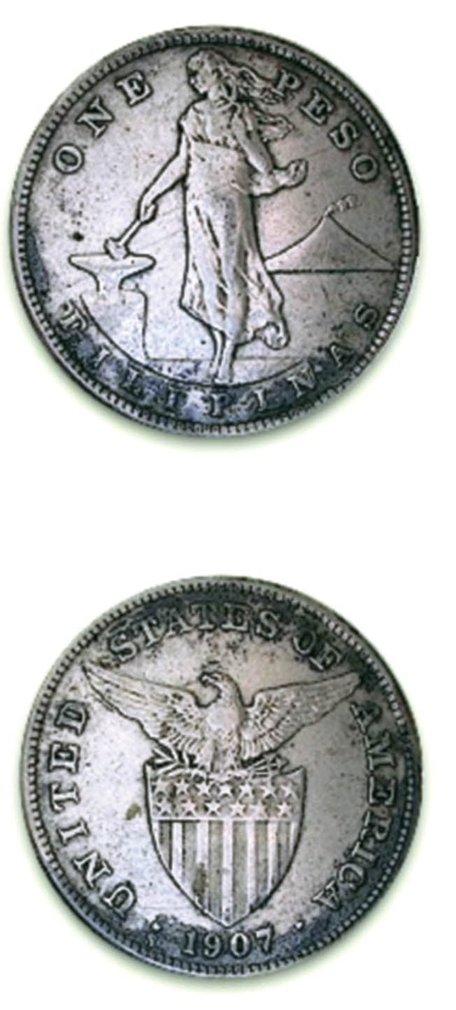 Silver coins such as these found a temporary resting place on the bottom of Manila Bay.