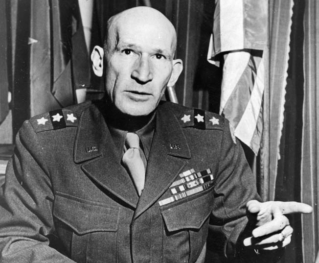 """General William """"Texas Bill"""" Simpson commanded the U.S. Ninth Army in Europe."""
