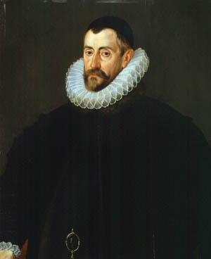 Sir Francis Walsingham. Walsingham doubled as Elizabeth's principal secretary and spymaster.