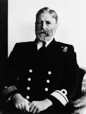Victorious General Crutchley of the British Royal Navy.
