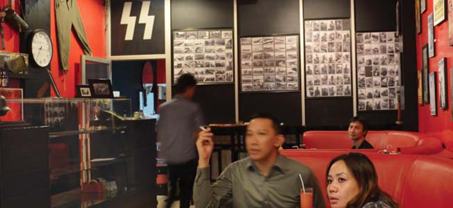 Soldatenkaffee, Nazi-themed cafe in Indonesia has recently re-opened, following a supposed overhaul of its heavily Nazi-themed atmosphere.