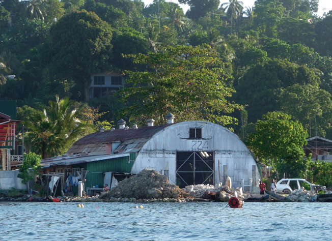 A Quonset hut from the war is now used as a warehouse on Ghizo Island, 236 miles west of Honiara.