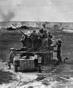 In 1943, after the Battle of Kursk, the Red Army launched a series of operations, resulting in the liberation of Nazi-occupied Soviet territory.