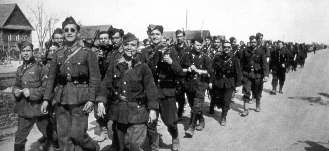 The División Española de Voluntarios, or Spanish Blue Division, fought alongside the Germans on the Eastern Front.