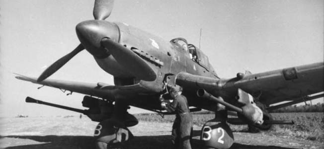 Colonel Hans-Ulrich Rudel became a legend flying the tank-busting Stuka.