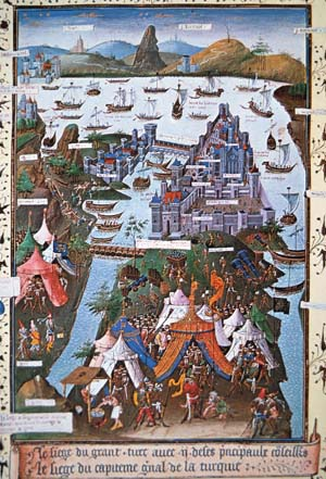 Mehmed the Conqueror, the Sultan Mehmet II, wanted to capture Constantinople in 1453, but the city's defenders fought with all their might.
