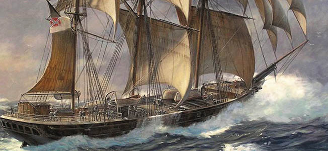 Built in Scotland in 1864, CSS Shenandoah was the last Confederate commerce destroyer to operate on the high seas.