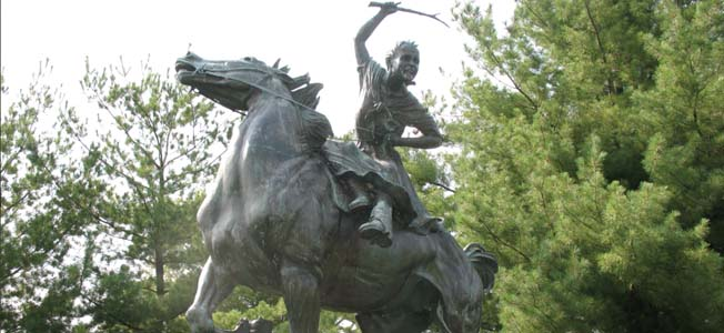 Sybil Ludington, just 16 years of age, mounted a horse and rode 40 miles from her home to alert the militia in the surrounding countryside of the British presence.