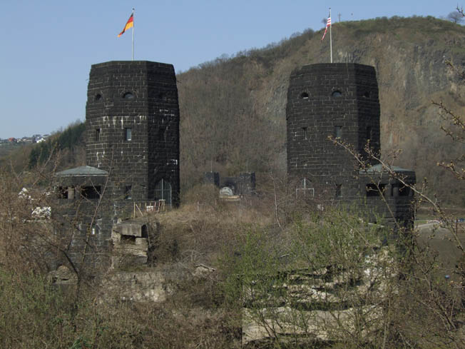 Still standing today, the twin towers of the Ludendorff Railroad Bridge on the west bank of the Rhine serve as a memorial to the fighting that went on there in the spring of 1945.