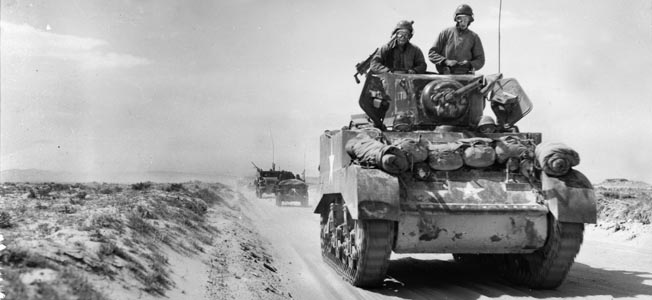Early in the North African campaign, American tankers battled the Vichy French.