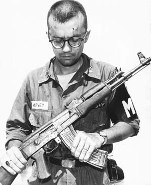 The Soviet-made AK-47 and the American M16, the primary assault rifles deployed during the Vietnam War, became symbols of the long conflict.