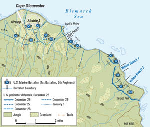 New Britain was a key prize in the Allies' island-hopping, but the combat and terrible terrain at the Battle of Cape Gloucester took a toll.