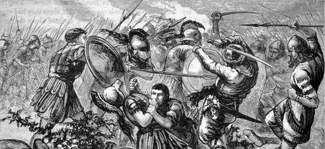After the Battle of Cunaxam 10,000 Hoplites began a harsh and punishing march against the odds.