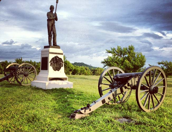 The 24-mile self-guided auto tour, which has 16 key stops, can be tackled at once, or more practically, in sections. The so-called High-Water Mark atop Cemetery Ridge, which was the objective of Pickett's Charge, as well as Little Round Top, are heavily visited parts of the Gettysburg battlefield. Whether going for short visit or a long one, it's worth visiting those two parts of the battlefield, as well as other parts associated with Confederate Maj. Gen. Longstreet's I Corps' attack on the Union left on July 2, such as The Wheatfield and Peach Orchard. The large Pennsylvania Memorial south of the High Water Mark is a good photographic subject.