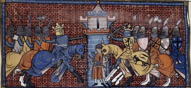 At the Battle of Gisors in 1198, French King Philip II was made to drink from the River Ethe when a bridge collapsed beneath him and his knights.