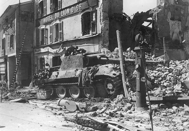 The 179th Regiment of the 45th Infantry Division, along with French Resistance fighters, held off German Panzers at the Battle of Meximieux.