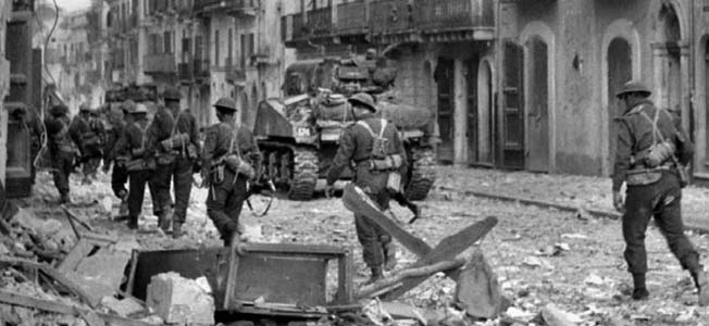 Determined Canadians fought street by street through the Battle of Ortona against elite German paratroopers who sought to stall the Allied advance.