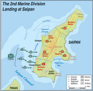 During the Battle of Saipan, the United States invaded the island to construct air bases for bombers that would eventually strike at Japan itself.