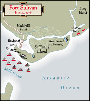 "Aware he was defending ""A Slaughter Pen,"" Colonel William Moultrie prepared to fight the best the British had to offer at The Battle of Sullivan's Island."