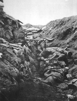 The trenches of World War I.