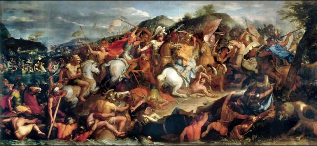 In a closely fought battle against the Persians in Asia Minor, the young king nearly lost his life, but his army prevailed.