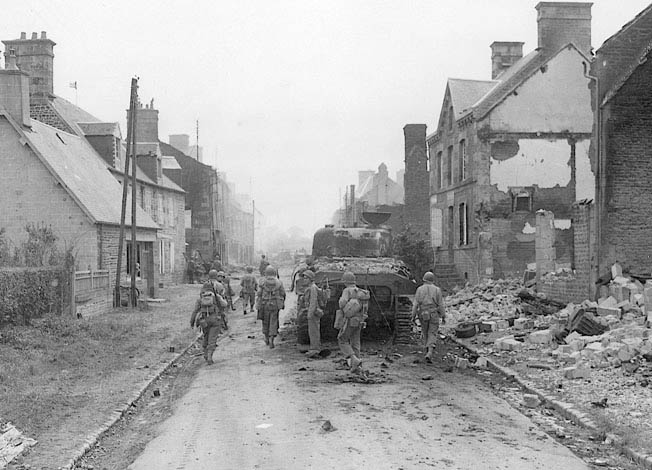 The 'Big Red One' and other allied forces fought German Panzer divisions at Mortain to stave off Operation Luttich in the summer of 1944.