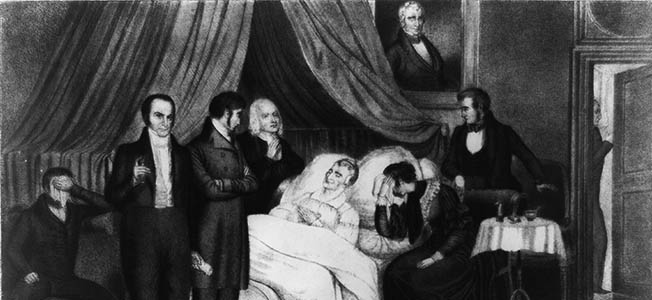 The Whig Party had better luck electing presidents than keeping them in office once they were elected.