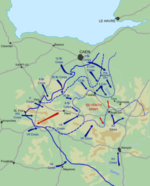 In the Falaise Packet during the Battle For France, retreating Germans were decimated by Polish and Canadian forces.
