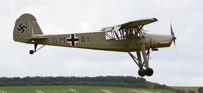 The Fieseler Storch Fi 156 flew such passengers as Hermann Göring, Field Marshal Erwin Rommel, Benito Mussolini... and Even Winston Churchill.