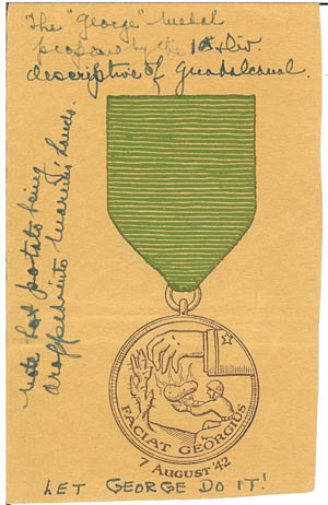 The highly unofficial 'George Medal' was a tongue-in-cheek response to the deadly serious combat at Guadalcanal.