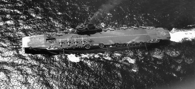 HMS Illustrious and her sisters with armored decks in the British carrier fleet helped them survive furious attacks.