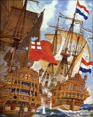 Two of the greatest sea powers of the 17th century, England and the Netherlands, clashed off the coast at the Battle of Portland in the summer of 1653.