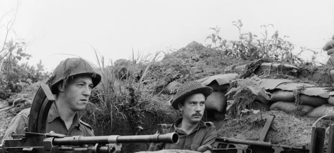 During the battle for Hill 111 Sergeant Brian Charles Cooper was in charge of a 10-man machine-gun section of the 2nd Royal Australian Regiment.