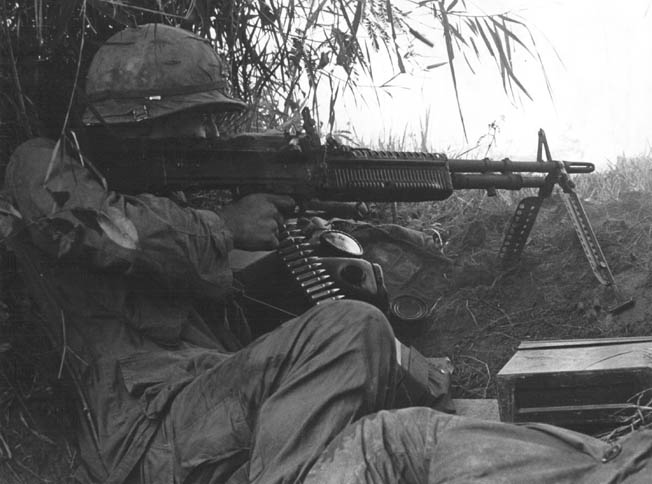The versatile, quick-firing M60 machine gun became one of the iconic weapons of the Vietnam War.