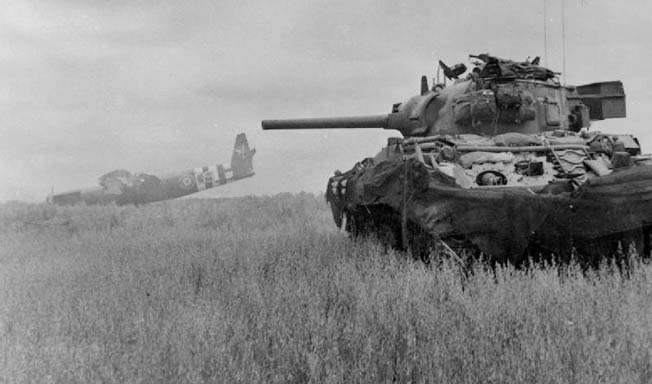M4 Sherman tanks could not—on paper at least—stand up to a Panther, but the U.S. had the priceless advantage of supporting airpower and plentiful reserves.