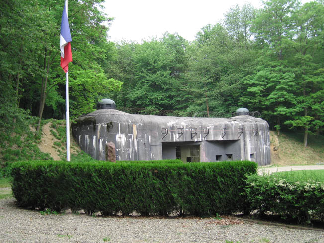 The entrance to Fortress Schoenenbourg along the Maginot Line, constructed to defend the road between Wissembourg and Hagenau.